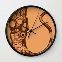 squid Wall Clocks featuring Squid  by Jack Yuen