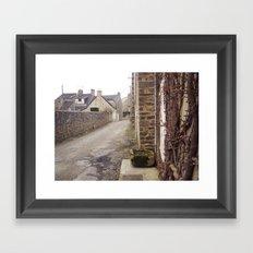 A small street Framed Art Print