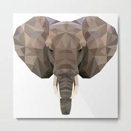 Africa Elephant Head Metal Print