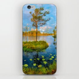 Autumn on the river iPhone Skin