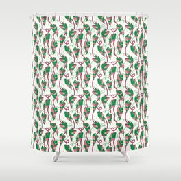 Flowing Vines Blush Pink Shower Curtain
