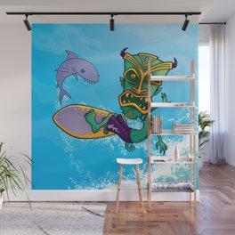 Tiki Surfer Wall Mural