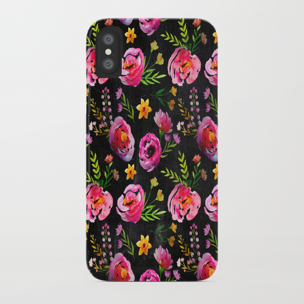 Vibrant Poppy Pattern Phone Case by Lavieclaire PCS6988613