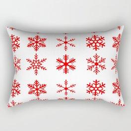 red snowflake seamless pattern Rectangular Pillow