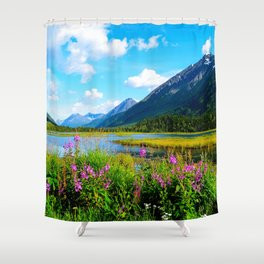 God's Country - Summer in Alaska Shower Curtain