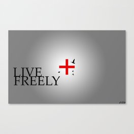Live Freely Canvas Print