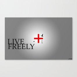 Live Freely Canvas Print