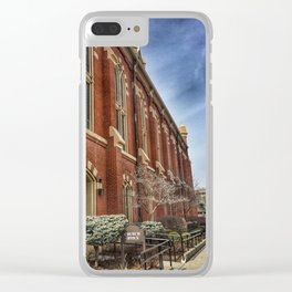 First Lutheran Church Side View in Moline, Illinois Clear iPhone Case