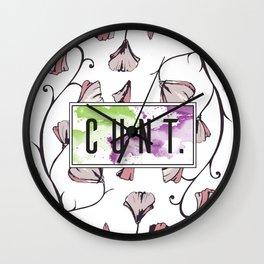 C*nt Flowers Wall Clock