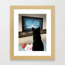 Watching TV Framed Art Print