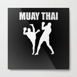 Muay Thai Design Metal Print