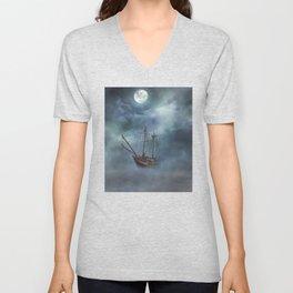 Sailing in the Dark Seas Unisex V-Neck
