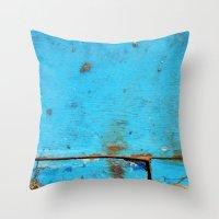 card Throw Pillows featuring Segments by David Bastidas