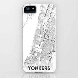 Minimal City Maps - Map Of Yonkers, New York, United States iPhone Case