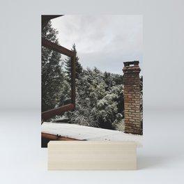 The view from my window in Bariloche Mini Art Print