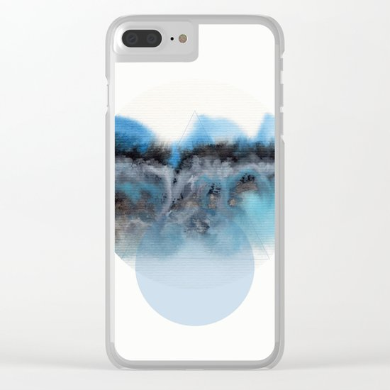 Watercolor S. 02 Clear iPhone Case