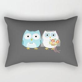 Owls Wedding Day | Bride and Groom Rectangular Pillow