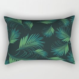 Tropical Night Palms Pattern #1 #tropical #decor #art #society6 Rectangular Pillow