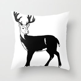Stag Print Throw Pillow