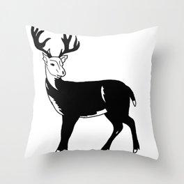 Stag Print Throw Pillow
