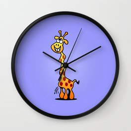 Joyfull Giraffe Wall Clock