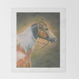 Pinto Trail Horse Throw Blanket