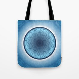 Flower of Life blue 2 Tote Bag
