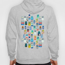 Lots of Watercolor Kitty Cats Hoody