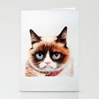 grumpy Stationery Cards featuring grumpy by AngelaArt