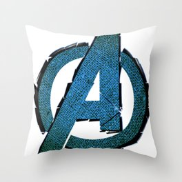 UNREAL PARTY 2012 AVENGERS LOGO FLYERS Throw Pillow