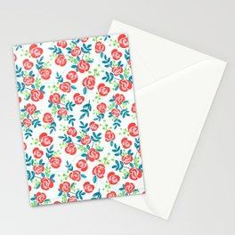 Gouache Roses Stationery Cards