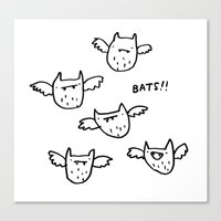 bats Canvas Prints featuring Bats!! by Sophie Corrigan