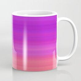 Orange & Purple Stripes | Bright ombre gradient pattern Coffee Mug