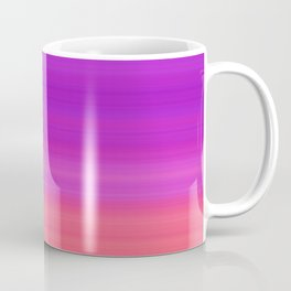 Orange & Purple Stripes | Bright ombre gradient pattern Coffee Mug