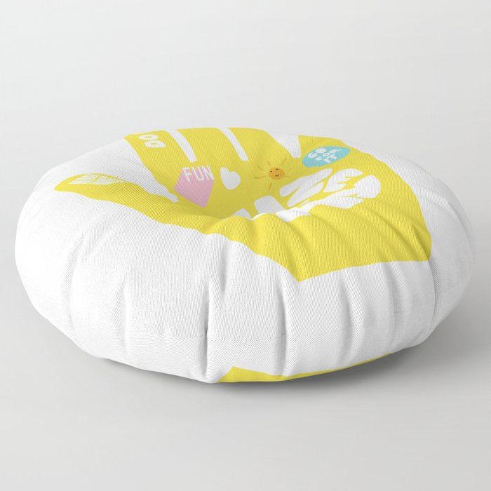 Seize the day – Sunshine hand Floor Pillow