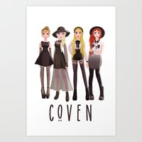 coven Art Prints featuring Coven by archibaldart