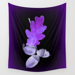 Acorn in Purle. Wall Tapestry