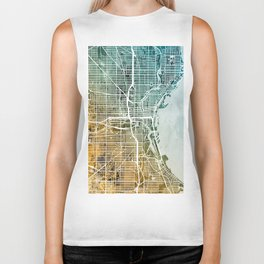 Milwaukee Wisconsin City Map Biker Tank