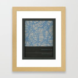 Abstract, contemporary, timeless style of living Framed Art Print