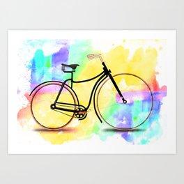 Pedal-driven beauty Art Print