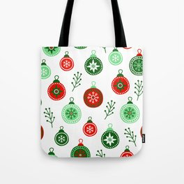 Christmas Decorations Pattern Tote Bag