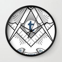 Tumblr Secret Society Wall Clock