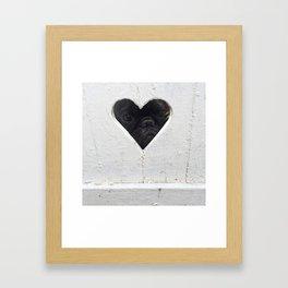 Peeking into your heart Framed Art Print