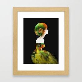 Van Girl Framed Art Print
