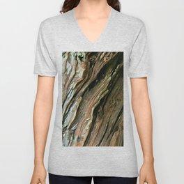 Old Olive tree weathered wood Unisex V-Neck