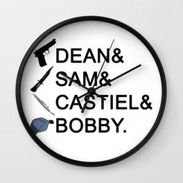 Supernatural Names Wall Clock