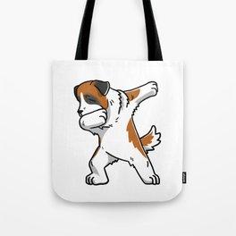 Funny Dabbing Saint Bernard Dog Dab Dance Tote Bag