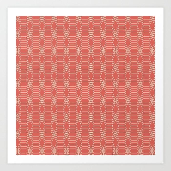hopscotch-hex melon Art Print