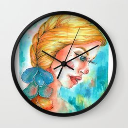 Sun kissed flowers Wall Clock