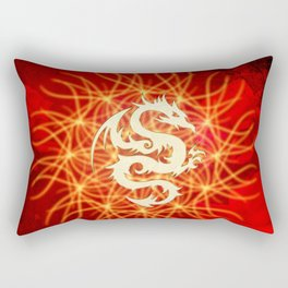 Wonderful golden dragon Rectangular Pillow